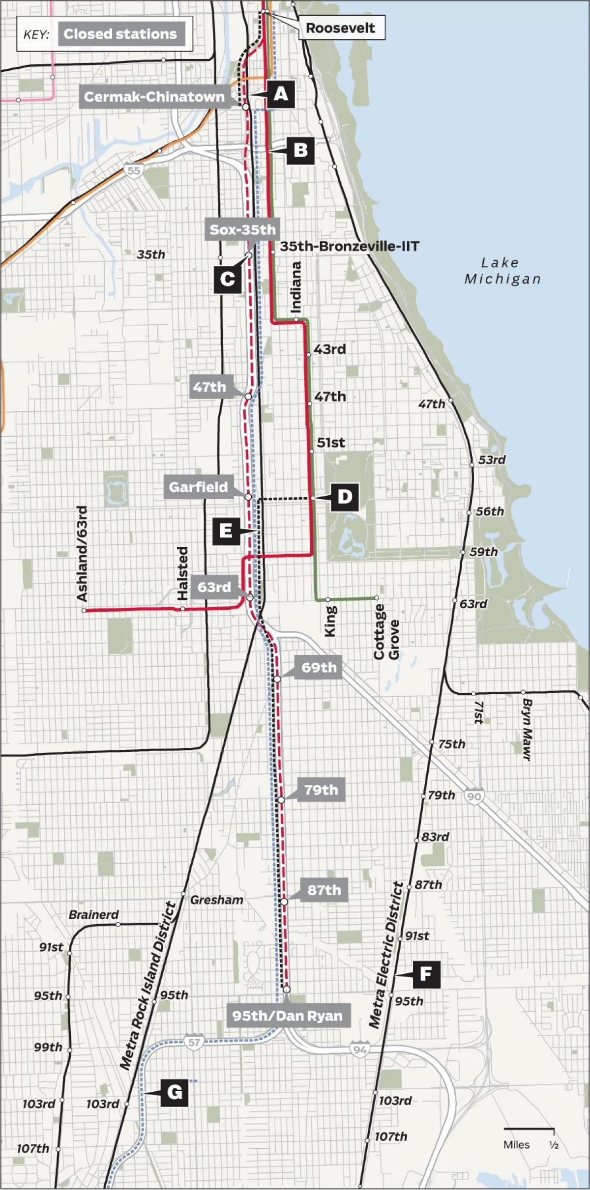 Karta Usa Chicago.Chicago Redline Karta Redline Chicago Karta Usa